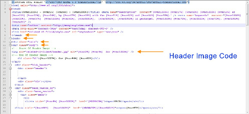 header image code